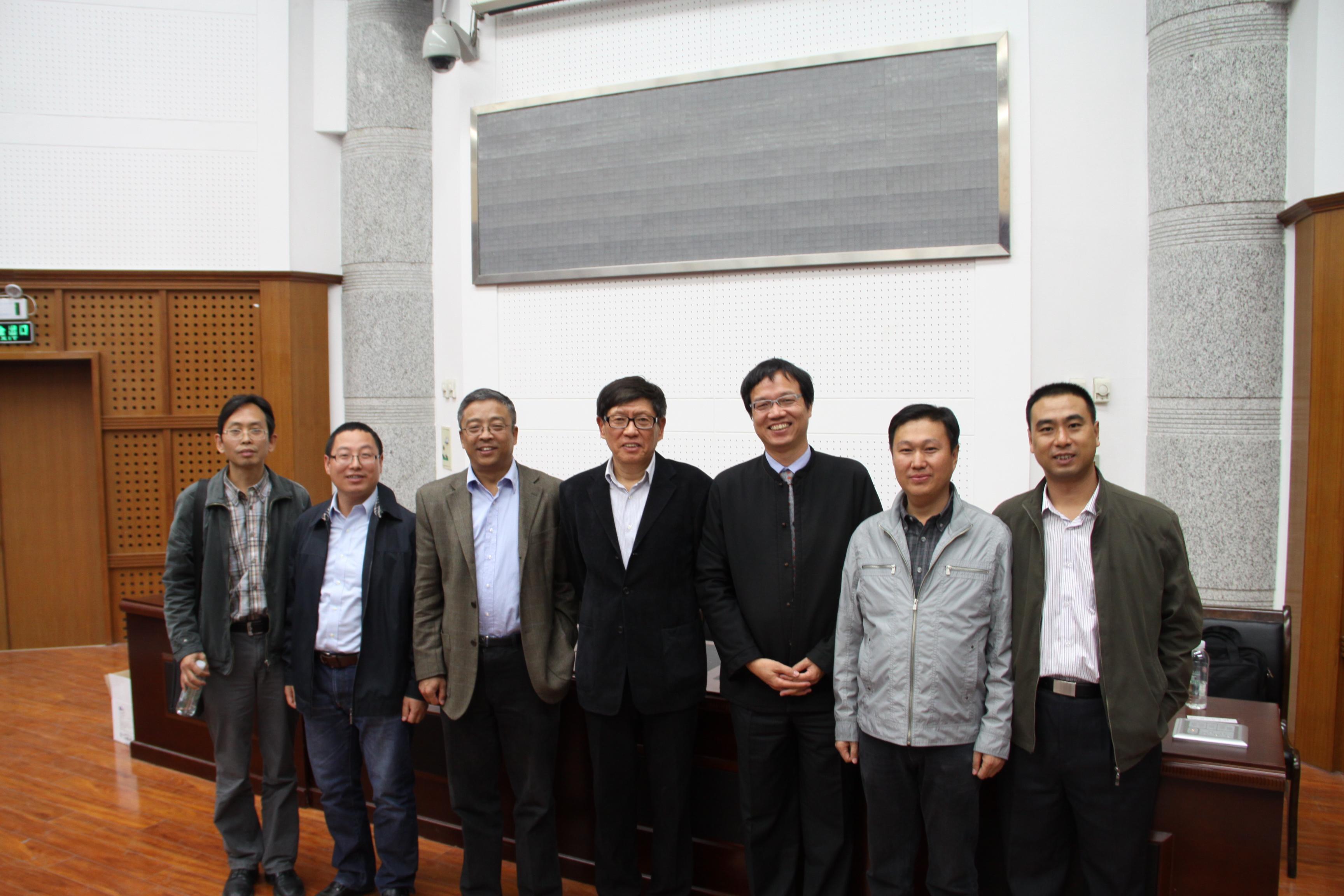 北京工业大学彭永臻院士和台湾成功大学林财富教授来我校进行学术交流